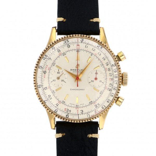 ブライトリング BREITLING クロノマット 217012 シルバー文字盤 メンズ 腕時計 【中古】