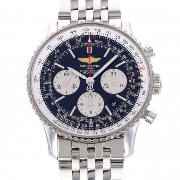 ブライトリング BREITLING ナビタイマー 01 クロノグラフ AB012012/BB01 ブラック/シルバー文字盤 メンズ 腕時計 【中古】