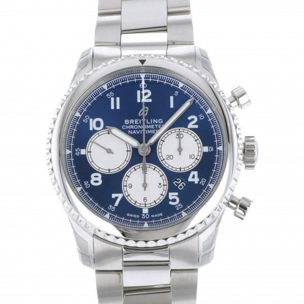 【期間限定ポイント5倍 5/5~5/31】 ブライトリング BREITLING ナビタイマー 8 B01 クロノグラフ 43 A008C-1PSS ブルー/シルバー文字盤 メンズ 腕時計 【新品】