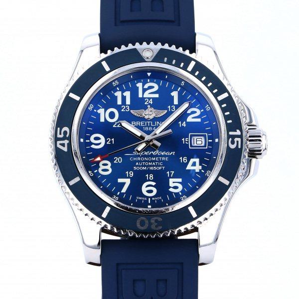 【期間限定ポイント5倍 5/5~5/31】 ブライトリング BREITLING スーパーオーシャン A192C10RRC ブルー文字盤 メンズ 腕時計 【中古】
