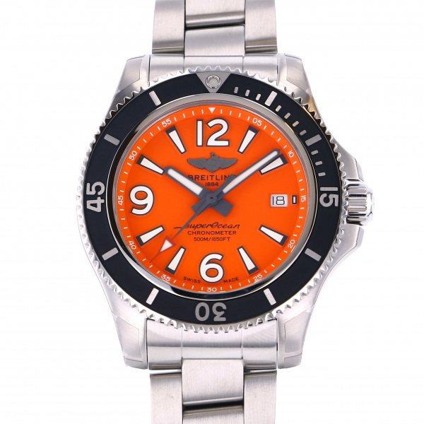 ブライトリング BREITLING スーパーオーシャン オートマチック 42 A2820-1PSS オレンジ文字盤 メンズ 腕時計 【新品】