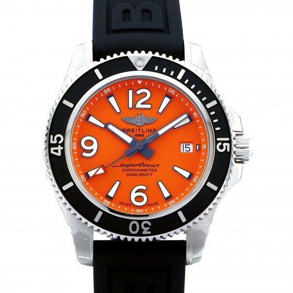 ブライトリング BREITLING スーパーオーシャン オートマチック 42 A2820-1VPR オレンジ文字盤 メンズ 腕時計 【新品】