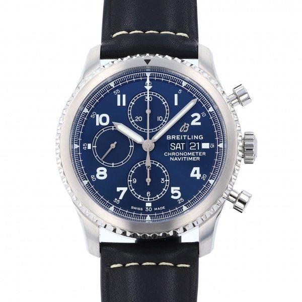 ブライトリング BREITLING ナビタイマー アビエイター8 クロノグラフ 43 A118C-1KBA ブルー文字盤 メンズ 腕時計 【新品】