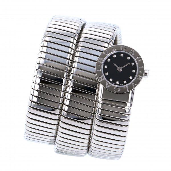 ブルガリ BVLGARI ブルガリブルガリ トゥボガス スネーク BB191TS ブラック文字盤 レディース 腕時計 【中古】