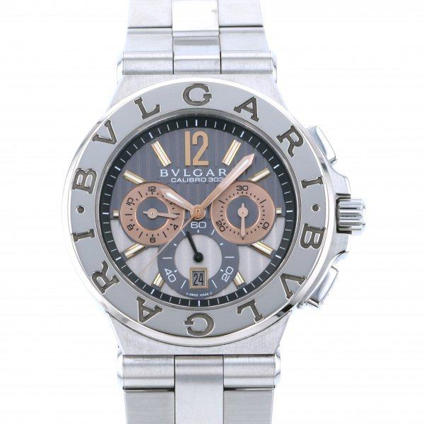 ブルガリ BVLGARI ディアゴノ カリブロ303 DG42C14SWGSDCH グレー/シルバー文字盤 メンズ 腕時計 【中古】