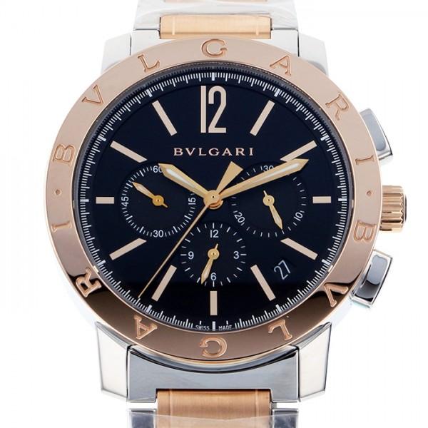 ブルガリ BVLGARI ブルガリブルガリ クロノ BB41BSPGDCH ブラック文字盤 メンズ 腕時計 【新品】