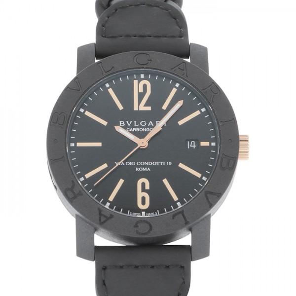ブルガリ BVLGARI ブルガリブルガリ カーボンゴールド BBP40BCGLD/N ブラック文字盤 メンズ 腕時計 【新品】