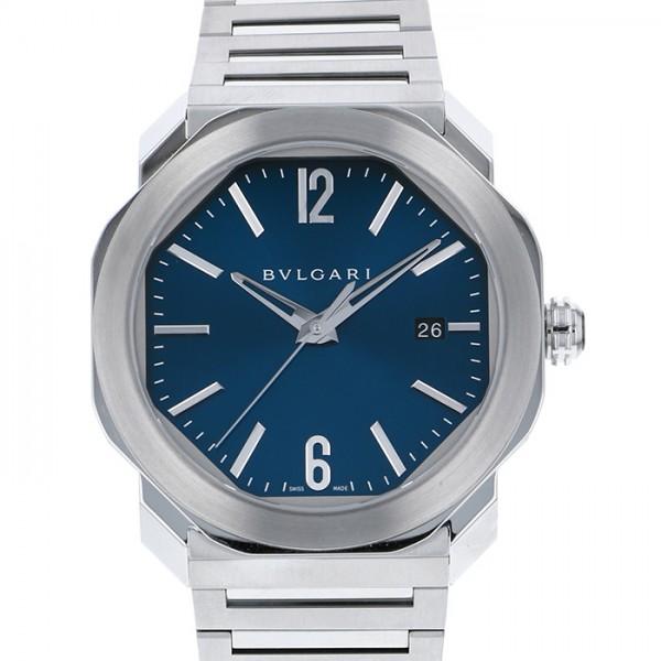 ブルガリ BVLGARI オクト ローマ OC41C3SSD ブルー文字盤 メンズ 腕時計 【新品】