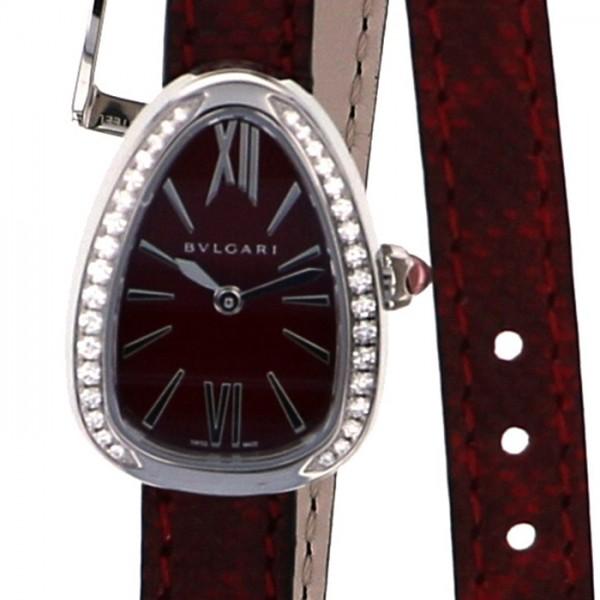 ブルガリ BVLGARI セルペンティ SPS27C9SDL レッド文字盤 レディース 腕時計 【新品】