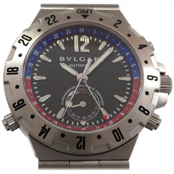 ブルガリ BVLGARI ディアゴノ GMT40S ブラック文字盤 メンズ 腕時計 【新古品】