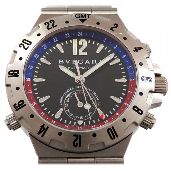 ブルガリ BVLGARI ディアゴノ GMT40S ブラック文字盤 メンズ 腕時計 【新品】