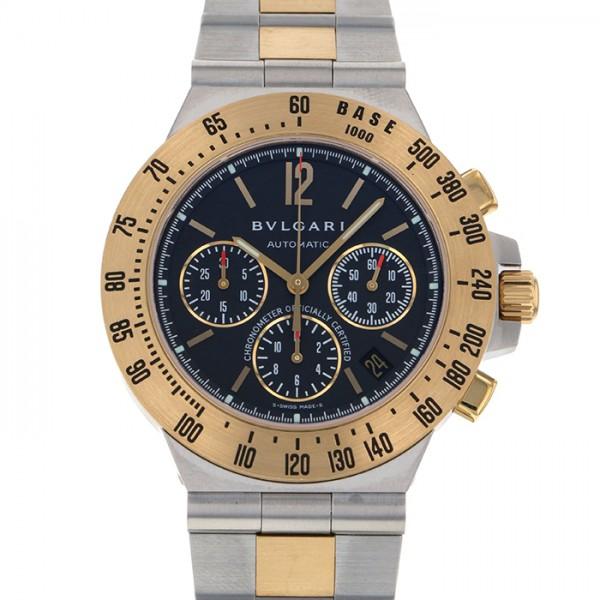 4dd82e9219a3 ブルガリ BVLGARI ディアゴノ プロフェッショナル タキメトリッククロノ CH40SGDTA ブラック文字盤 メンズ 腕時計 【中古】
