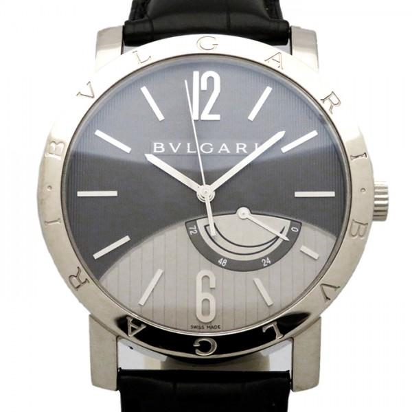 ブルガリ BVLGARI ブルガリブルガリ リザーブドマルシェ BBW41BGL グレー/シルバー文字盤 メンズ 腕時計 【新古品】