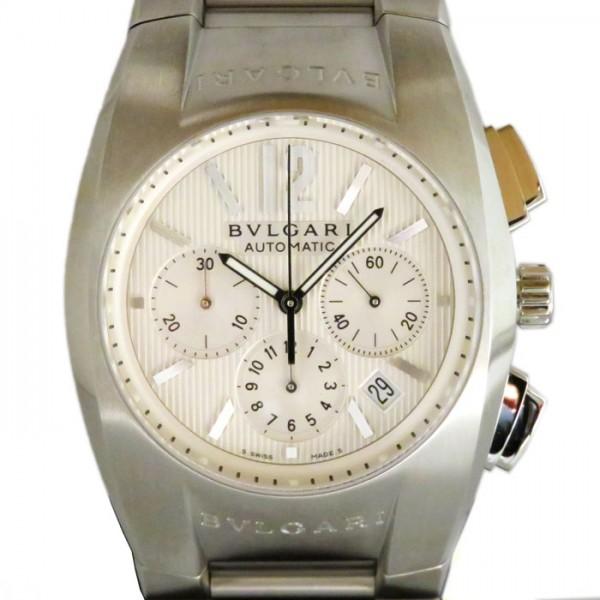 ブルガリ BVLGARI エルゴン クロノグラフ EG40C6SSDCH ホワイト文字盤 メンズ 腕時計 【新古品】