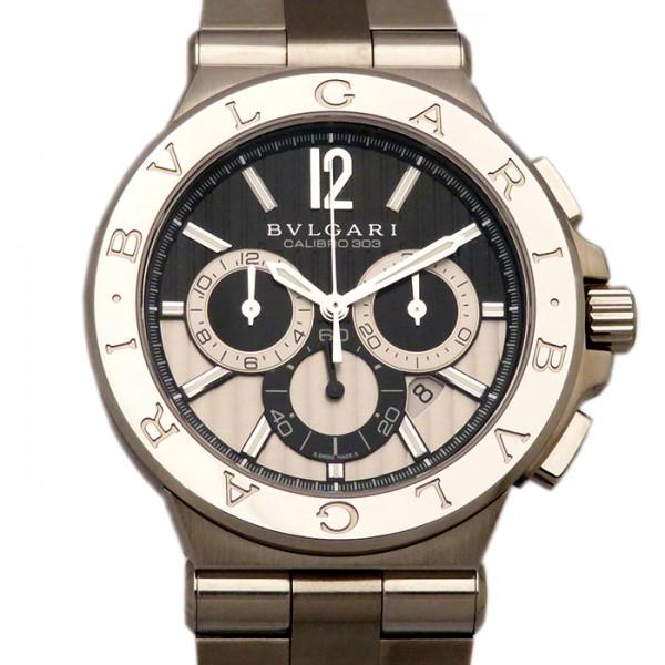 ブルガリ BVLGARI ディアゴノ カリブロ303 DG42BSSDCH ブラック文字盤 メンズ 腕時計 【新古品】