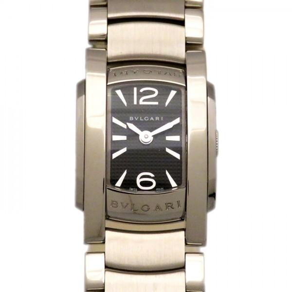 ブルガリ BVLGARI アショーマ D AA26BSS ブラック文字盤 レディース 腕時計 【新品】