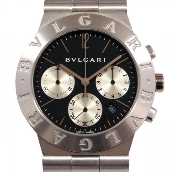 ブルガリ BVLGARI ディアゴノ スポーツ クロノグラフ CHW35G ブラック/シルバー文字盤 メンズ 腕時計 【中古】