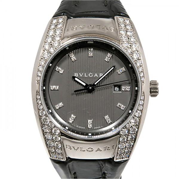 ブルガリ BVLGARI エルゴン ベゼルダイヤ EGW30G グレー文字盤 レディース 腕時計 【中古】