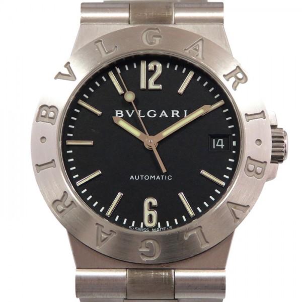【全品 ポイント10倍 4/9~4/16】ブルガリ BVLGARI ディアゴノ スポーツ LCW35G ブラック文字盤 メンズ 腕時計 【中古】