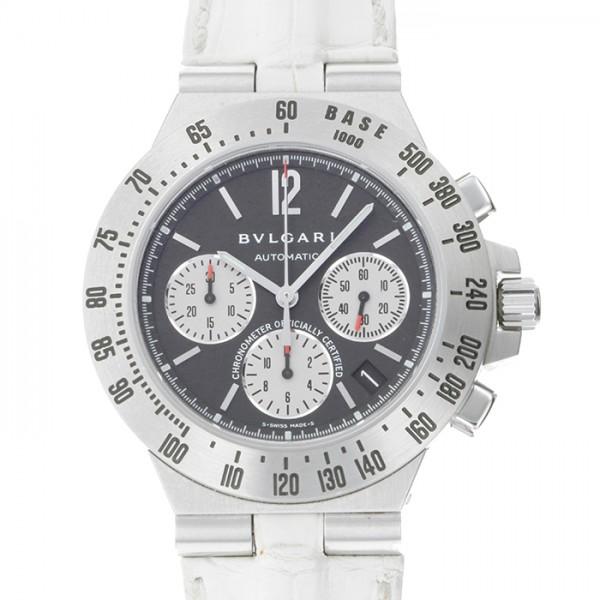 ブルガリ BVLGARI ディアゴノ タキメトリック クロノ CH40BSLDTA ブラック/シルバー文字盤 メンズ 腕時計 【中古】