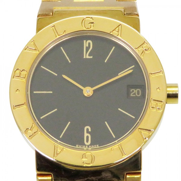 【期間限定ポイント5倍 5/5~5/31】 ブルガリ BVLGARI ブルガリブルガリ BB30GGD ブラック文字盤 メンズ 腕時計 【中古】