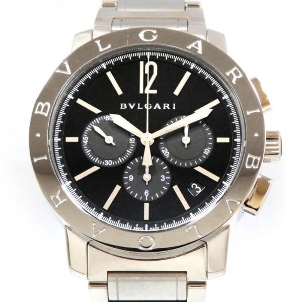 ブルガリ BVLGARI ブルガリブルガリ クロノグラフ BB41BSSDCH ブラック文字盤 メンズ 腕時計 【新品】
