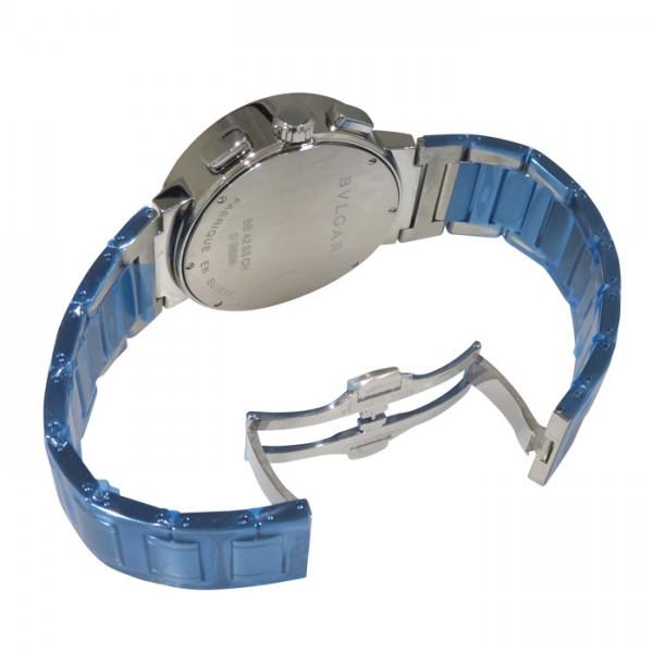【全品 ポイント10倍 16日1:59まで 要エントリー】ブルガリ BVLGARI ブルガリブルガリ クロノグラフ BB42WSSDCH ホワイト文字盤 メンズ 腕時計 【新品】