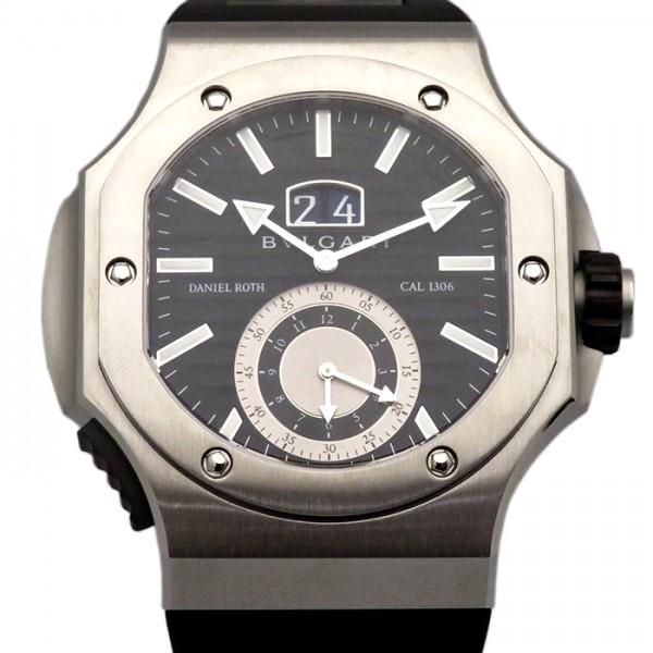 super popular b4b69 184cf ブルガリ BVLGARI その他 ダニエル ロート BRE56BSVDCHS ブラック文字盤 メンズ 腕時計 ...