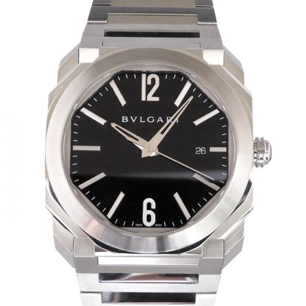 【全品 ポイント10倍 4/9~4/16】ブルガリ BVLGARI オクト BGO41BSSD ブラック文字盤 メンズ 腕時計 【中古】