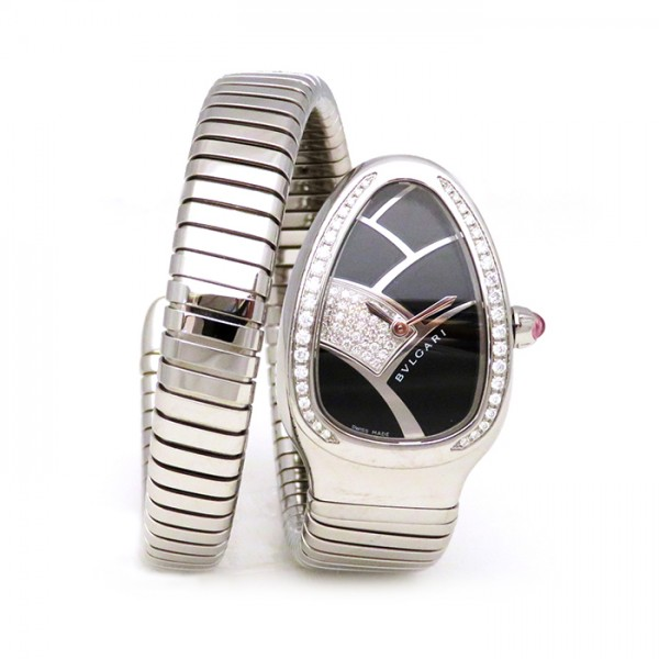 ブルガリ BVLGARI セルペンティ ベゼルダイヤ SP35BD1SDS.1T ブラック文字盤 レディース 腕時計 【新品】