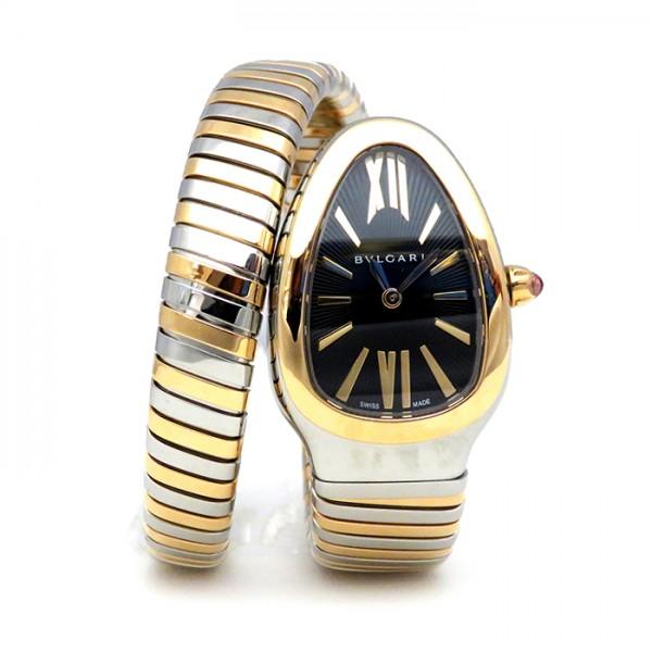 ブルガリ BVLGARI セルペンティ SP35BSPG.1T ブラック文字盤 レディース 腕時計 【新品】