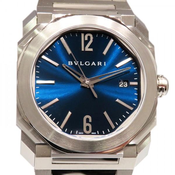 ブルガリ BVLGARI オクト ジェラルド ジェンタ ソロテンポ BGO38C3SSD ネイビー文字盤 メンズ 腕時計 【新品】