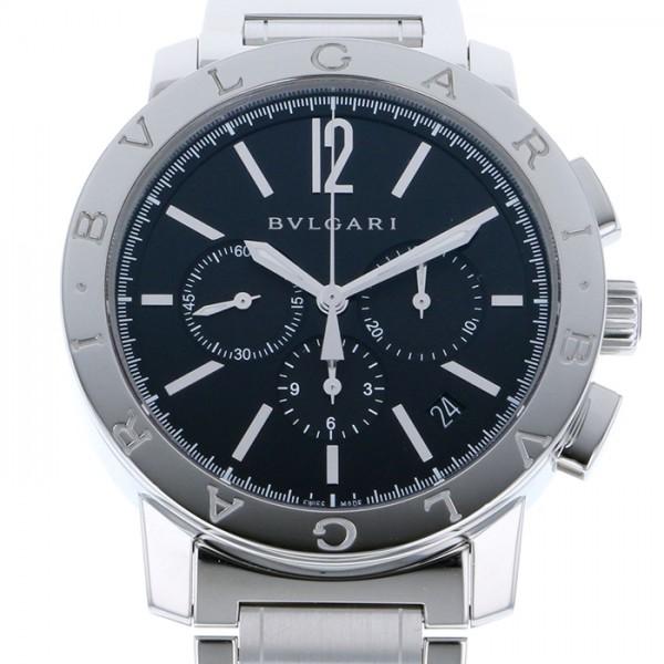 ブルガリ BVLGARI ブルガリブルガリ BB41BSSDCH ブラック文字盤 メンズ 腕時計 【中古】