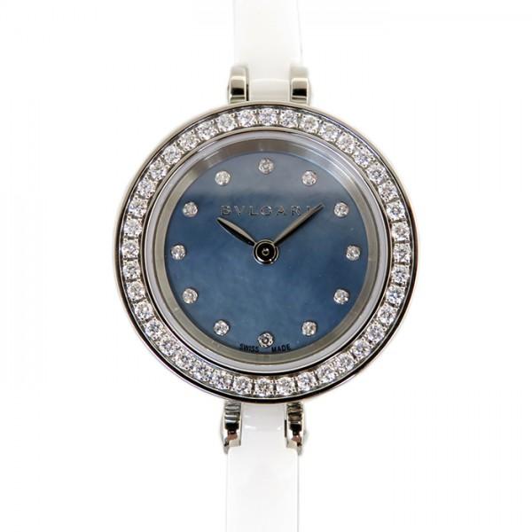 【期間限定ポイント5倍 5/5~5/31】 ブルガリ BVLGARI ビー・ゼロワン BZ23 ブルー文字盤 レディース 腕時計 【新品】