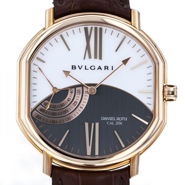ブルガリ BVLGARI ダニエル・ロート プティセコンド BRRP44C14GLPS ホワイト/グレー文字盤 メンズ 腕時計 【中古】