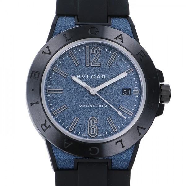 ブルガリ BVLGARI ディアゴノ マクネシウム DG41C3SMCVD ブルー文字盤 メンズ 腕時計 【未使用】
