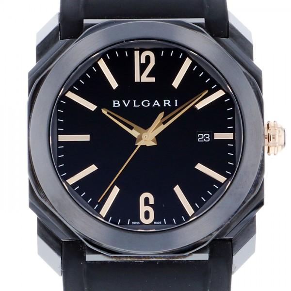 ブルガリ BVLGARI オクト ウルトラネロ BGO41BBSVD ブラック文字盤 メンズ 腕時計 【中古】