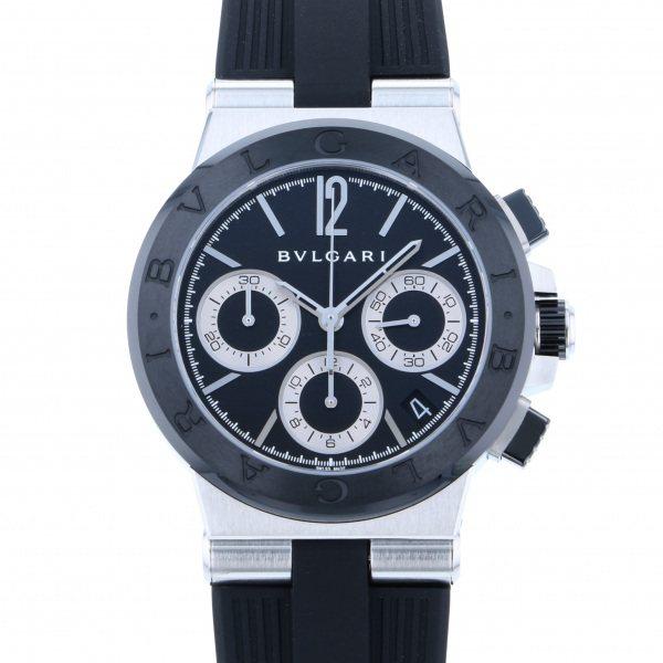 ブルガリ BVLGARI ディアゴノ セラミック クロノグラフ DG37BSCVDCH ブラック文字盤 メンズ 腕時計 【新品】