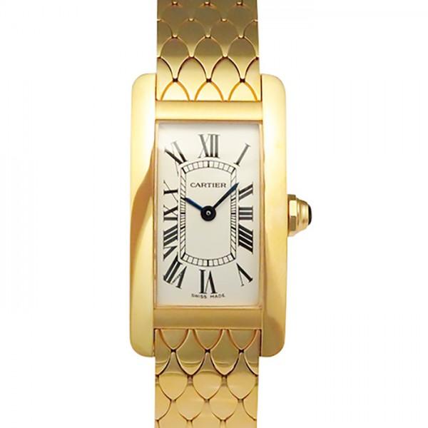カルティエ CARTIER タンク アメリカン W2620031 ホワイト文字盤 レディース 腕時計 【新品】