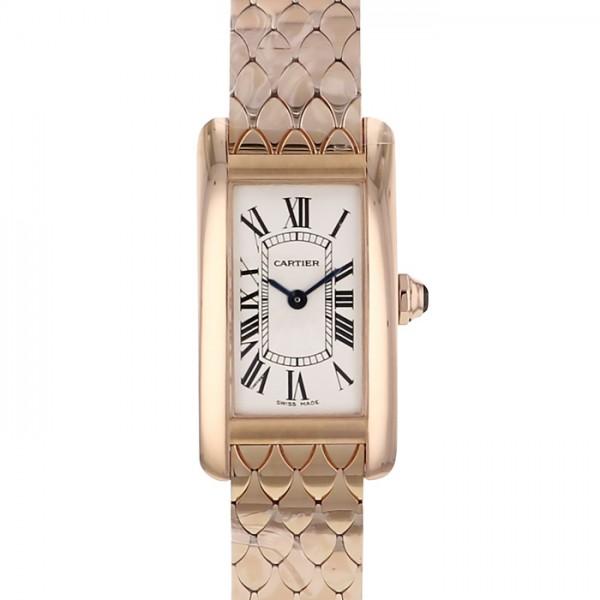 カルティエ CARTIER タンク アメリカン SM W2620031 ホワイト文字盤 レディース 腕時計 【新品】