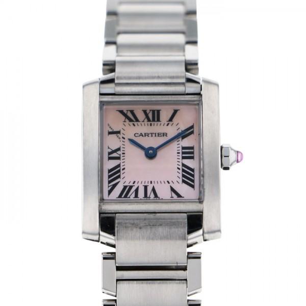 【送料無料/即納】  カルティエ Cartier タンク フランセーズ SM W51028Q3 ピンク文字盤  腕時計 レディース, カーテンインテリア MOIS 5e2a12a1