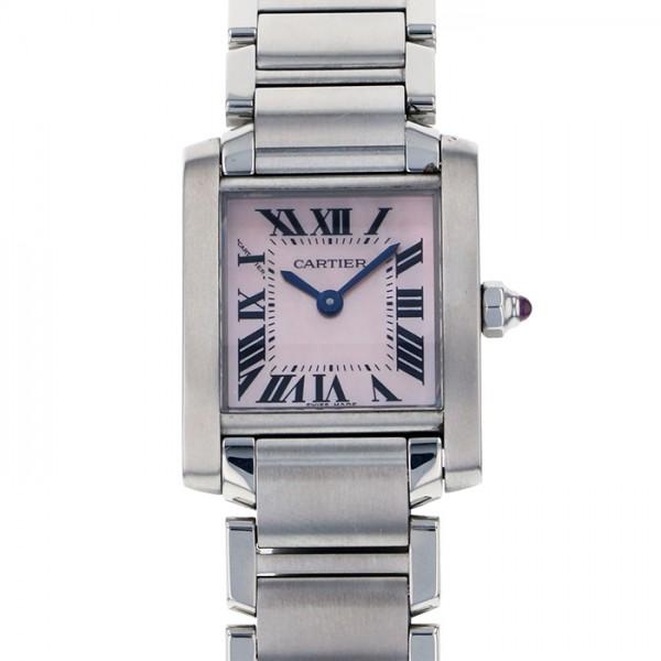海外最新 カルティエ Cartier タンク フランセーズ SM W51028Q3 ピンク文字盤  腕時計 レディース, ナチュラルコスメワールド 72bc2947