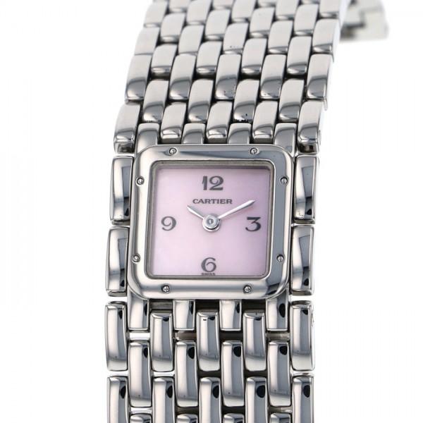 カルティエ CARTIER その他 パンテールリュバン W61003T9 ピンク文字盤 レディース 腕時計 【中古】