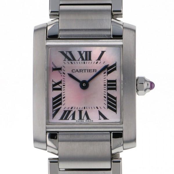 贅沢 カルティエ Cartier タンク フランセーズ SM W51028Q3 ピンク文字盤  腕時計 レディース, カワモトマチ c4319b11