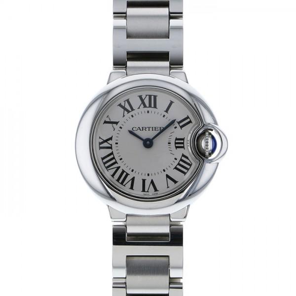 カルティエ CARTIER バロンブルー W69010Z4 シルバー文字盤 レディース 腕時計 【中古】