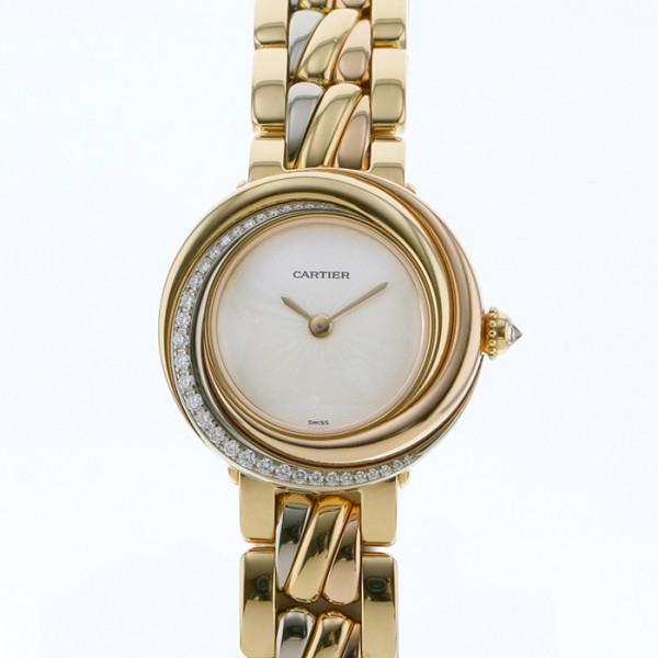 【海外輸入】 カルティエ Cartier トリニティ ベゼルダイヤ WG2001S5 シルバー文字盤  腕時計 レディース, PARADISE MARKET 30d34dd6