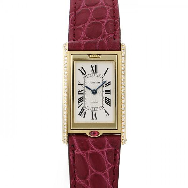 カルティエ CARTIER タンク バスキュラントLM 150周年記念世界限定150本 - ホワイト文字盤 レディース 腕時計 【中古】