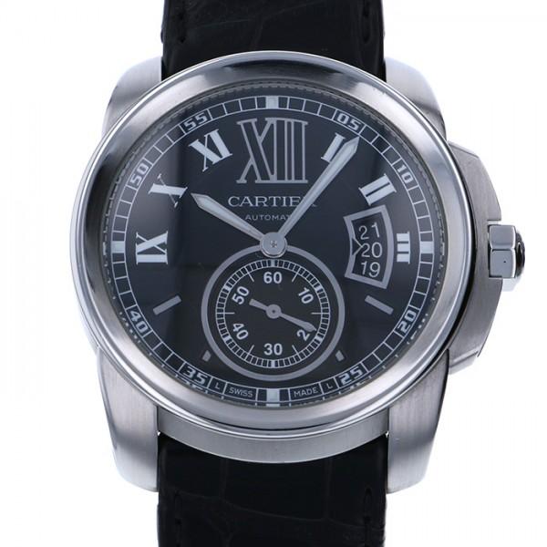 【全品 ポイント10倍 4/9~4/16】カルティエ CARTIER カリブル ドゥ カルティエ W7100014 ブラック文字盤 メンズ 腕時計 【中古】