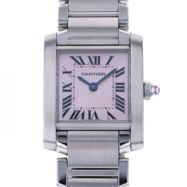 【年間ランキング6年連続受賞】 カルティエ Cartier タンク フランセーズ SM W51028Q3 ピンク文字盤  腕時計 レディース, CLOSER 30ea33b3