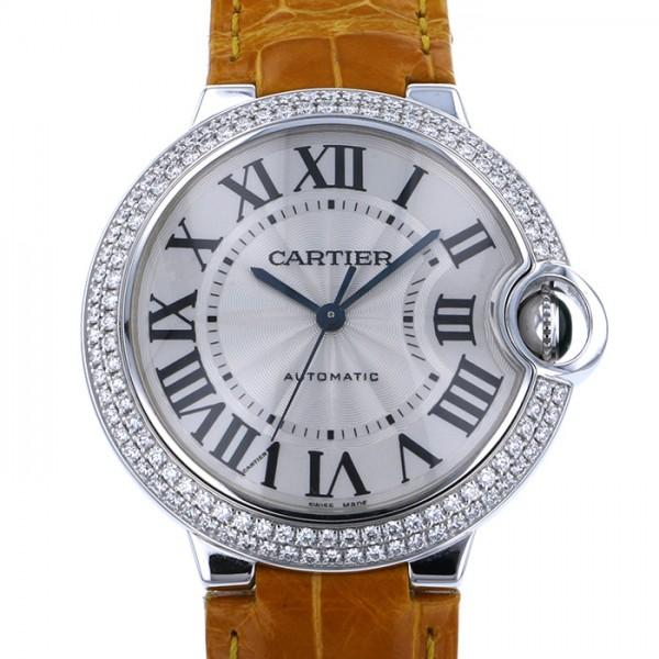 カルティエ CARTIER バロンブルー WE900651 シルバー文字盤 レディース 腕時計 【中古】